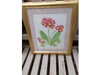 Original signed floral watercolour painting