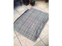TENT CARPET FOR A ROYAL BORDEAUX 6 SG-GREEN TARTAN CHECK