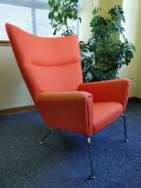 Armchair. Replica Wegner CH445 armchair.