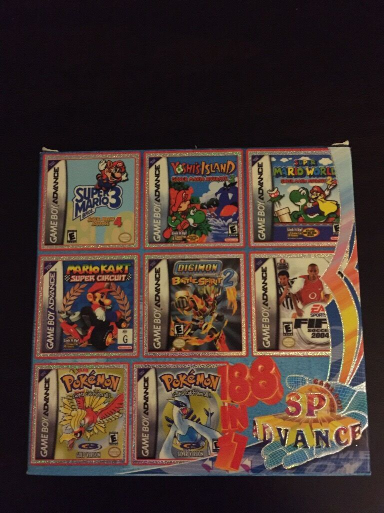 GAME BOY ADVANCE MULTICART 188 GAMES
