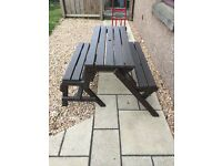 Picnic Table & Bench Set - Great Condition