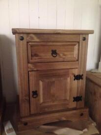 Mexican pine bedside tables