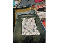 Large box of jeans and jumper all worn but still in good condition