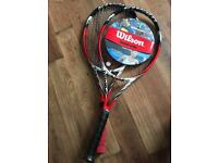 2 Wilson steam BLX 105 tennis rackets