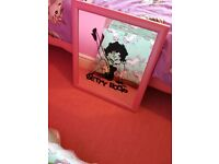 large pine mirror and betty boop mirror