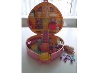 Vintage lucy locket playset house carry case vintage rare toy from polly pocket.