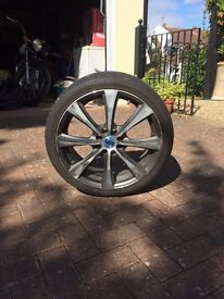Alloy rims complete with tyres x four