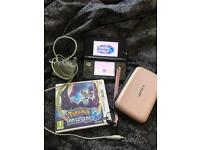Nintendo 3DS charger and Pokemon 3Ds Moon game