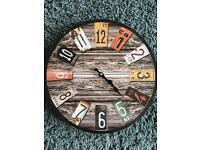 Retro brown and orange wall clock