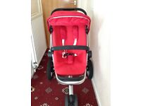 Maxi Cosi Quinny Pram, Carry Cot, Car Seat and Base