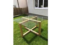 Next glass hideaway table