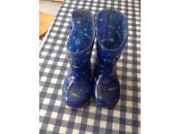 Blue wellies