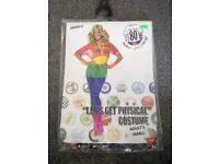 80's get physical fancy dress costume size S