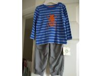 Kid's Boy's Little Me Brand new with tag clothes 2 piece pant set christmas gift set 18m-24m