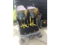 Lovely maclaren twin techno pushchair