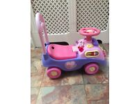 Pink Push Along and Ride on Baby Walker
