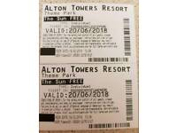 2x alton towers tickets 20.6.18