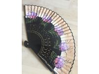 Beautiful painted hand held fan
