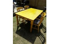 Lovely Wooden Dining Table with 4 chairs