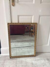 Mirror, Heart Detail, Wooden.