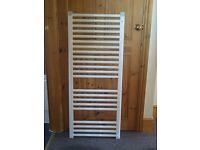 White Instinct Straight Ladder Towel Rail, 1200/500 Brand New