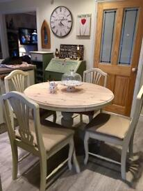 Pine Extending dining table & 4 Chairs NOW SOLD