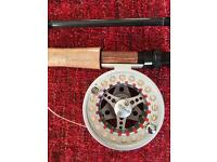 9ft river fly rod size 4 to 5 and reel with floating line. Brand new