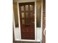Hardwood Glazed External Door complete with locks and fittings