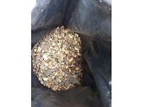 Decorative garden stones 50p per bag
