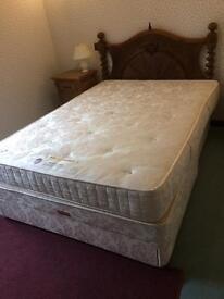 Double divan bed , Sleepeeze solitaire