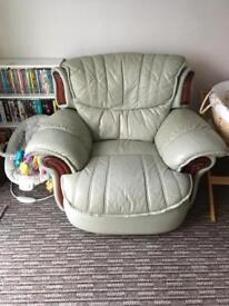 Green Single recliner