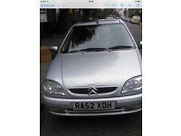 Citroen saxo desire 1.1 petrol engine, low mileag in good condition