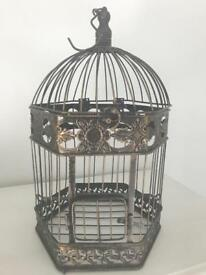 Beautiful vintage bird cage wedding decoration