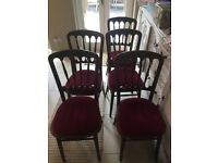 Set of 5 stackable banqueting chairs with detachable seating - quick sale!!