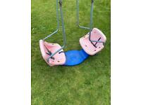 TP swing boat for TP swing frame set in good working condition swings slides outdoor toys