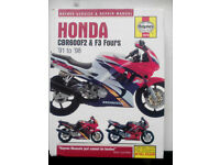 Haynes manuals: HONDA CBR600F and PEUGEOT 405 (petrol)