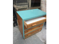 Vintage chest of drawers , well made . L 30in D 18in H 30in. Free local delivery.