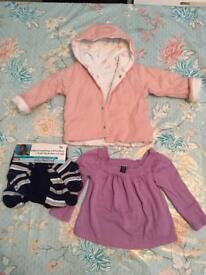 6-12M baby Girl's mixed clothing bundle