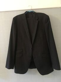 Next Mens Suit - Size 44L - Dark Grey Pin Stripe - Excellent Condition.