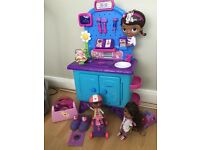 Disney doc mcstuffins clinic play sets & electric scooter & dolls