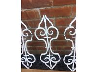 "Set Of 9 Original Wrought Iron Balusters/ Balustrade Archetectural Salvage 22.5""- can deliver"