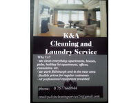 K&A CLEANING AND LAUNDRY SERVICES - high quality-best price!!! ALL EDINBURGH AND IN THE NEAR AREA