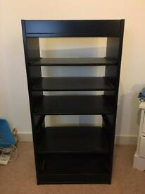 Standing shelf cabinet - Black wood