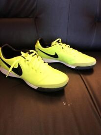 NIKE TIEMPO MYSTIC ASTRO FOOTBALL SHOES - VOLT/BLACK (Size UK 9.5)