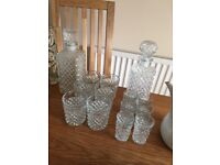 2 x sets of decanters and glasses