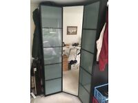 Ikea corner PAX Wardrobe (brown black)