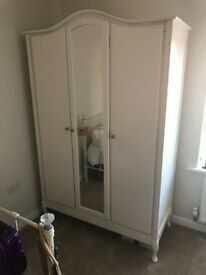 Single Bed, Wardrobe, Dressing Table & Chest of Drawers - Bedroom Furniture Mirrored