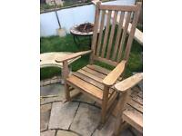 Casamoré wooden garden rocking chair