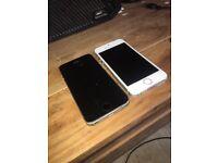 Two iPhone 5s broken screen