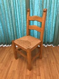 Set of 4 matching pine chairs